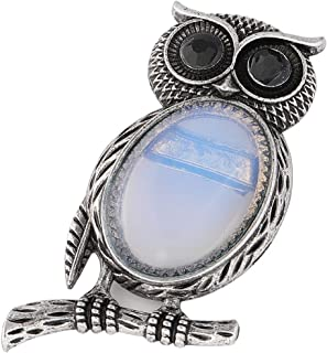 Plumiss Animal Shape Natural Turquoise Lapis Lazuli Opal Brooch Necklace Two Options for Women