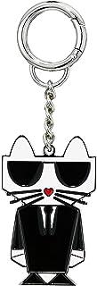 Karl Lagerfeld Paris Metal Keychain, BLACK
