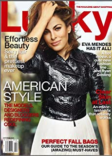 Lucky Magazine (October, 2013) Eva Mendes Cover