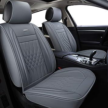 LUCKYMAN CLUB Gray Car Seat Covers Fit Most Sedan SUV Truck Fit for Outback Crosstrek Forester Legacy Impreza WRX Optima Sportage Rondo Rio Cadenza Fusion Escape (Gray): image