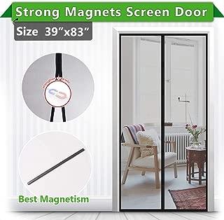 [Upgrade Version ] Magnetic Screen Door, IKSTAR Fiberglass Mesh Door Instant Closure with Full Frame Hook&Loop, Keep Fly/Bugs Out, Pet/Kids Walk Through Freely, Fit Doors Up to 36