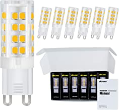 DiCUNO G9 LED Ceramic Bulb 4W 400LM Warm White 3000K 220-240V Energy Saving Lamp Chandelier Non-dimmable 6Pcs