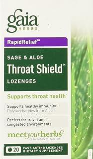 GAIA HERBS Throat Shield Lozenges, 0.17 Pound
