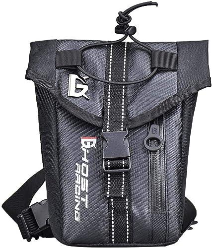 ETH Moto Multi-Fonction D'équitation Jambes De Chevalier Imperméable à l'eau en Plein Air Sac De Sport Paquet De Mobilité Sac De Taille Moto Sac De Chevalier Pack (Noir) Couleuré