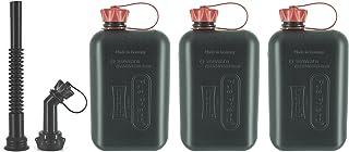 FuelFriend®-Big MAX. 2,0 litros - Bidón con aprobación de la Onu + Kit de caño - 3 Piezas por un Precio Especial