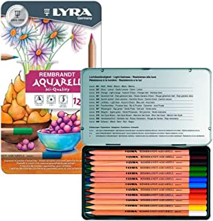 Lyra Rembrandt Aquarell Pencils, Tin of 12
