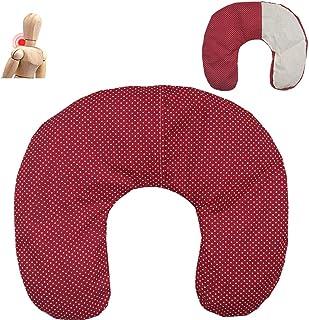 """Cuscino termico cervicale con noccioli di ciliegia""""Pois - rosso"""" 36 x 32 cm - ripieno con 600gr di noccioli di ciliegie bi..."""