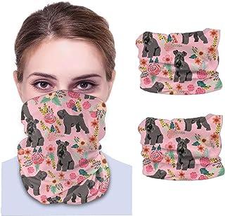 Nother Blå blommig hund – rosa unisex mikrofiber mode andas bandanas huvudbonad armband