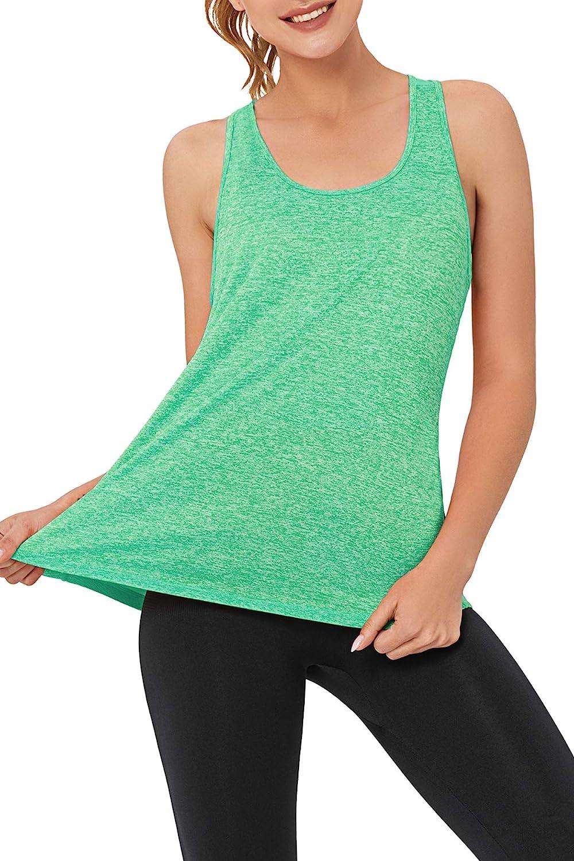 VIISHOW Yoga Tank Tops for Women Sleeveless Workout Tank Tops Mesh Back Tops Racerback Muscle Tank Tops