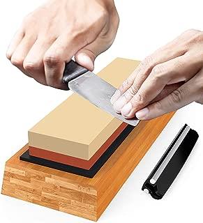 Premium Sharpening Stone Knife Sharpener Best Japanese Whetstone 1000/6000 Grit Wet Stone Kit for Kitchen Kamikoto Knives