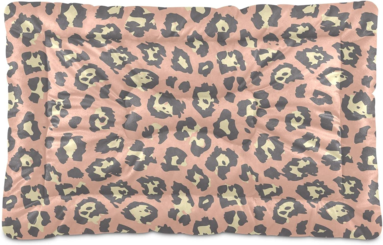 Dog Bed Popular standard Pink Leopard Print Crate L Popular products Washable Mattress for Mat