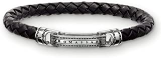 Thomas Sabo Bracelet Homme Cuir Noir 17.5cm LB40-008-11-S