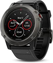 Garmin fēnix 5X with Canada Maps, Premium and Rugged Multisport GPS Smartwatch, features Topo Mapping, Slate Gray, (Renewed)