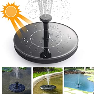 Mixhomic Solar Fountain Pump 1.4W Monocrystalline Silicon Solar Panel for Garden Pond Sprinklers and Fountain Aquarium Small Pond Bird Feeder for Bird Bath