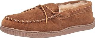 Men's Sheepskin Hardsole Pile-Lined Moccasin Slippers