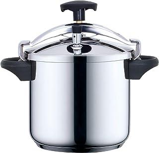 KITCHEN MOVE CSB22-6L - Olla a presión (Acero Inoxidable), Color Negro Metalizado, Acero Inoxidable, Plateado/Negro, 6 L, diámetro de 22 cm