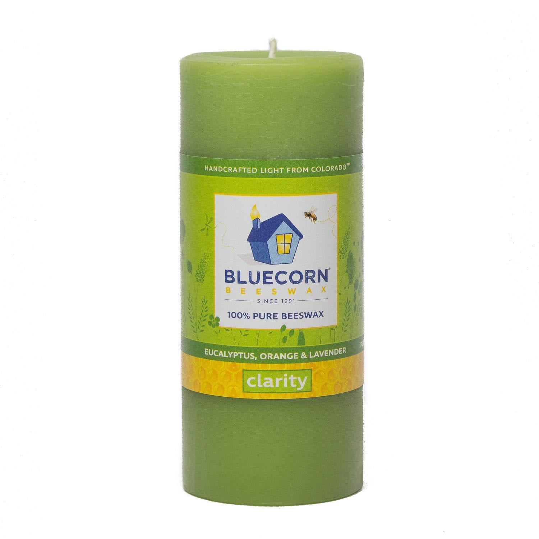 Bluecorn Beeswax Aromatherapy Pillar Clarity