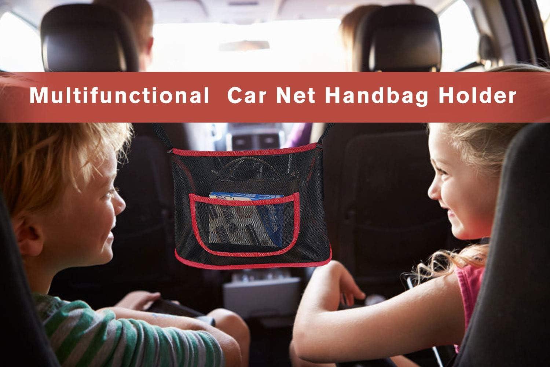 Car Net Pocket Handbag Holder Organizer,Handbag Holder for Car,Mesh Handbag Holder Between Seats,Mesh Purse Storage Handbag for Car