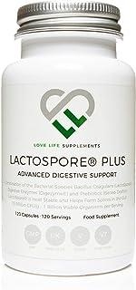 LactoSpore® (Bacillus Coagulans) Plus de LLS | Probióticos | 15 mil millones de UFC por gramo | 120 Cápsulas - Suministro para 4 meses | Incluye Enzimas Digestivas e Inulina Prebiótica