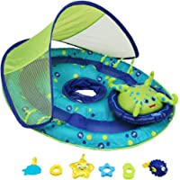 SwimWays Baby Spring Float Activity Center With Canopy (Blue/Green Octopus)
