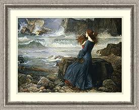 Framed Wall Art Print Miranda - The Tempest, 1916 by John William Waterhouse 27.12 x 21.50