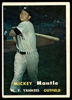 1957 Topps #95 Mickey Mantle VG/EX