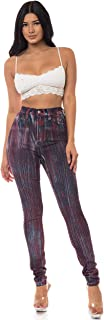 Aphrodite Washed Skinny Jeans for Women - Printed and Painted Embellished Womens Jeans (Made in USA)
