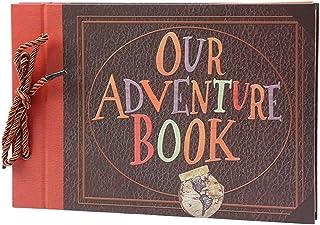Photo Albums Handmade DIY Album Paste Vintage Leash Album Our Adventure Book Up Family Sammel Album Photo Album