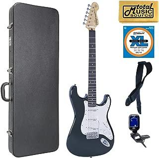$509 » Vintage Guitars V6 Reissue Electric Guitar - Boulevard Black, Case Bundle