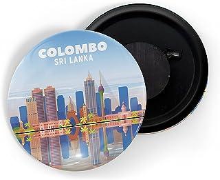 dhcrafts Fridge Magnet Multicolour Colombo Sri Lanka D1 Glossy Finish Design Pack of 1
