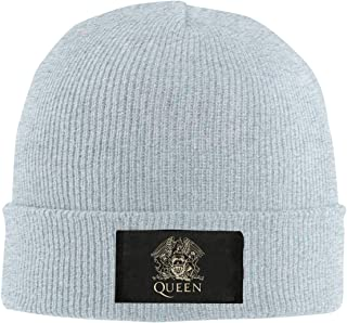 CustomART Mens Warm Knit Cap Hats Skull Beanie - Queen Band Logo