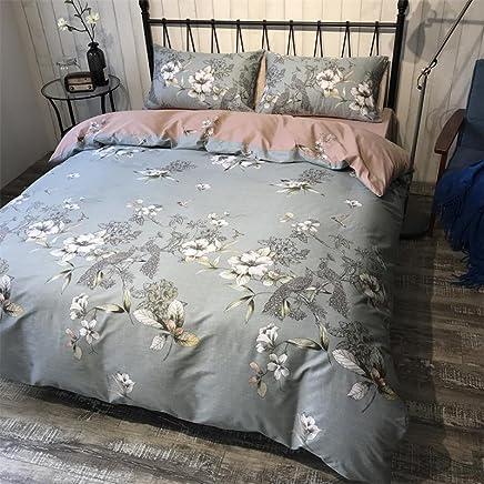 莫恩 床上用品 全棉四件套纯棉床单被罩床品套件有绑角带 幸福使者 1.5米床 被套2.0*2.3