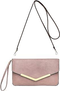 f8f4a86ecd CRAZYCHIC - Grand Portefeuille Long Style Cuir PU - Pochette Soirée  Enveloppe Femme - Mini Sac
