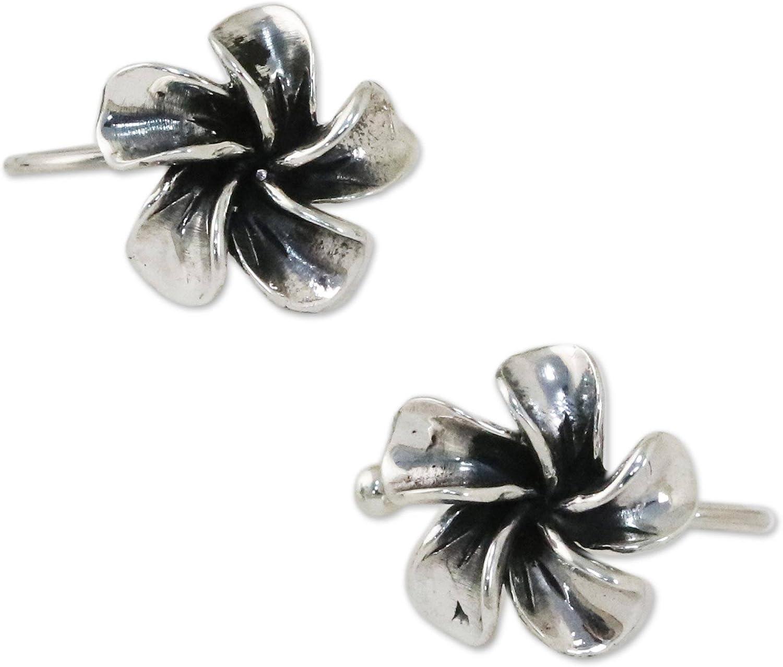 NOVICA Set of Selling rankings 2 Plumeria Flower Cuffs Long-awaited Ear ' Silver Sterling .925