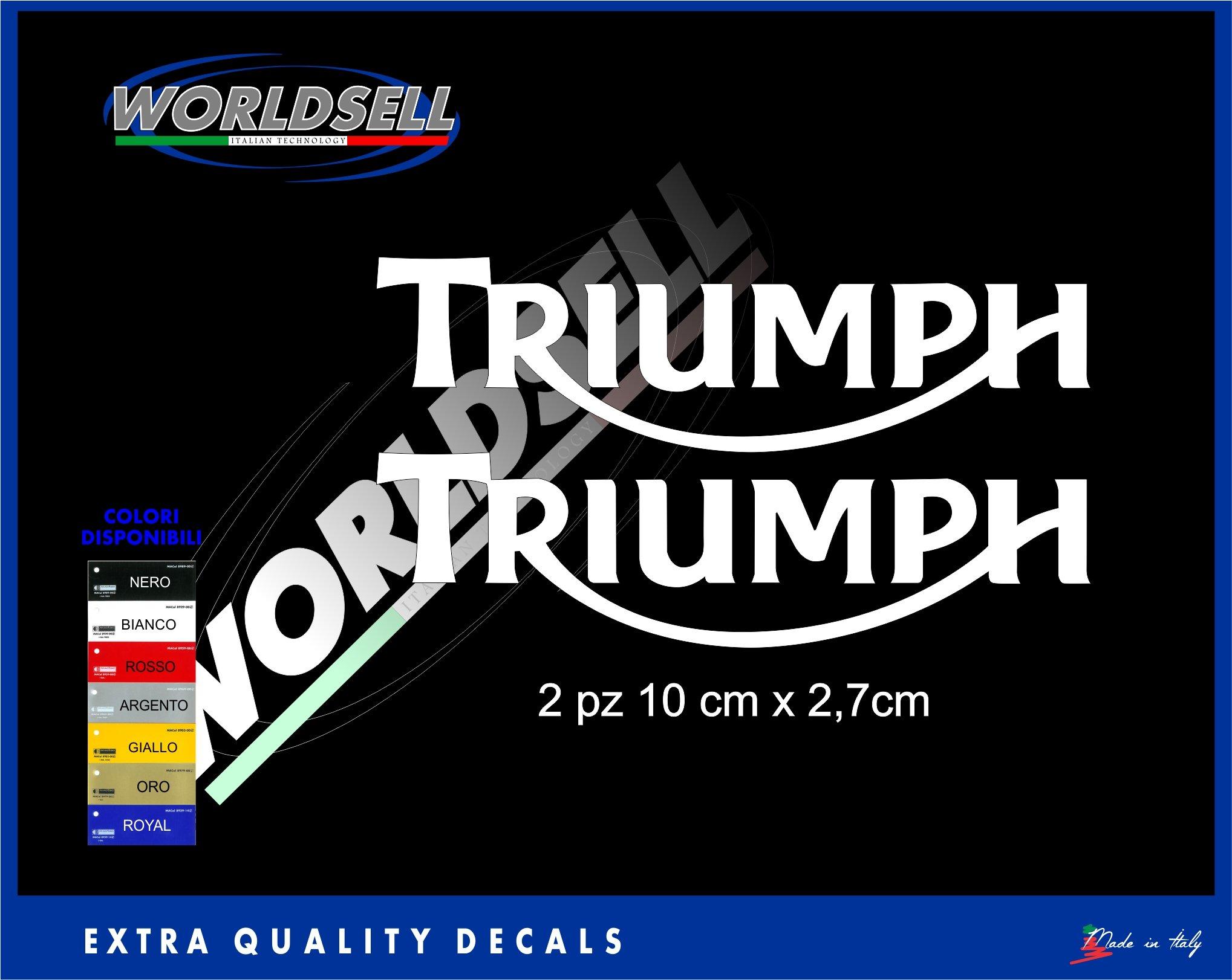 Pegatinas pegatinas sppedtriple Triumph 675 Bonneville streettriple Tiger, dorado: Amazon.es: Deportes y aire libre