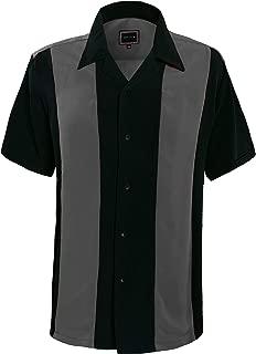 Mens Button Down Bowling Shirt, Cuban Style Retro Two Ton Camp Shirt(24 Colors, S-5XL)