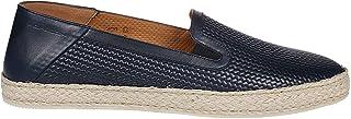Luxury Fashion | Moreschi Men 43438NAVY Blue Leather Espadrilles | Spring-summer 20