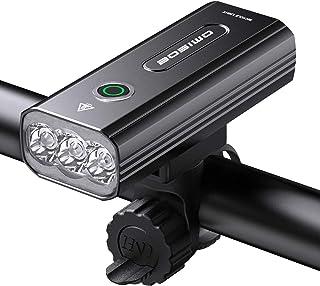 自転車 ライト 大容量5200mAh USB充電式 LEDヘッドライト「3in1機能搭載」 自転車ヘッドライト 高輝度IPX5防水 防振 アルミ合金製 PSE認証済 懐中電灯兼用 停電対応 地震対策 登山 夜釣り 日本語説明書付き [ブラック]
