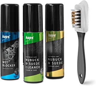 Complete Shoe Clean and Care Kit, Shoe Care Set for Nubuck and Suede Boots and Shoes, Footwear Cleaning Kit by Kaps