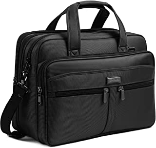 BOSTANTEN 17 inch Laptop Bag Case Expandable Briefcases for men Hybrid Computer Water Resisatant Business Messenger Should...