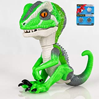 Finger Raptor,Dinosaur Velociraptor BURU,6MODE❤,Dinosaur toys,Electronic Interactive Dinosaur, with Auto-sleep function,Energy saving optimization upgrade. Children's gift choose☃(Light Green/White)
