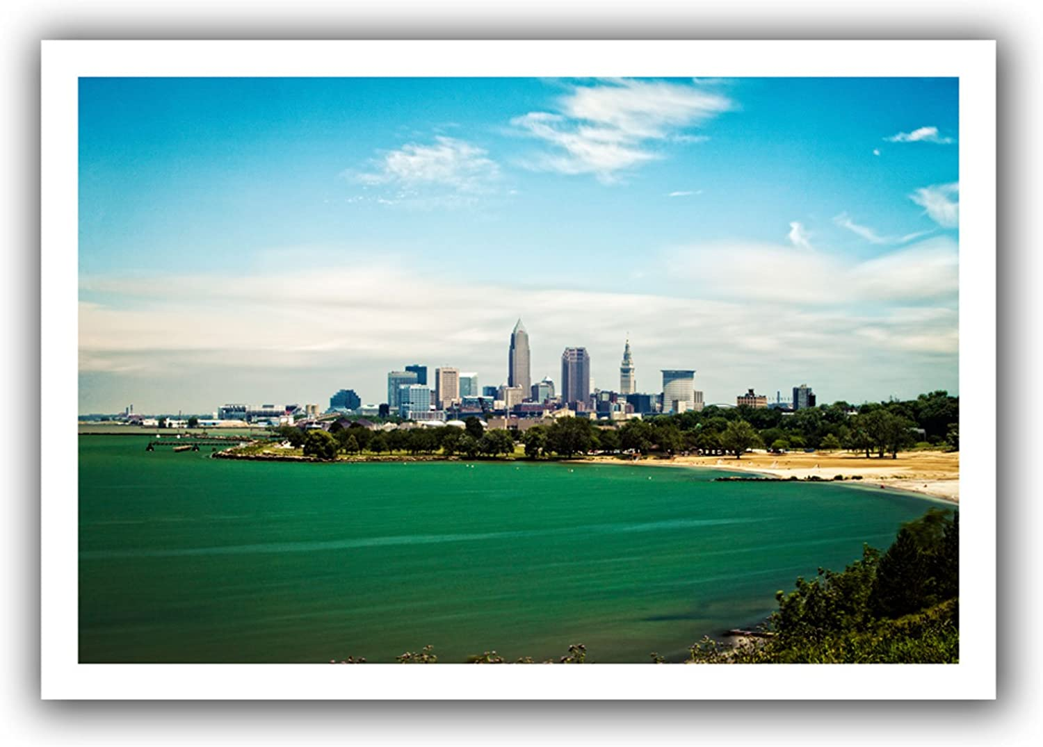 ArtWall Cody York Cleveland 22Feet Unwrapped Canvas Artwork, 16 by 22Inch, Holds 12 by 18Inch Image