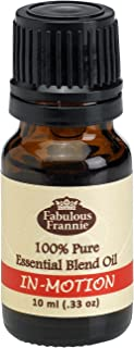 In-Motion Pure Essential Oil Blend 10mL made with Lavender, Lemon, Peppermint, Ginger and Anise by Fabulous Frannie