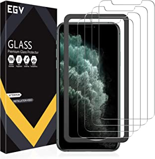 EGV 4 Pack Screen Protector for iPhone 11 Pro Max/iPhone Xs Max 9H HD Clear Tempered Glass, Case Friendly, Alignment Frame...