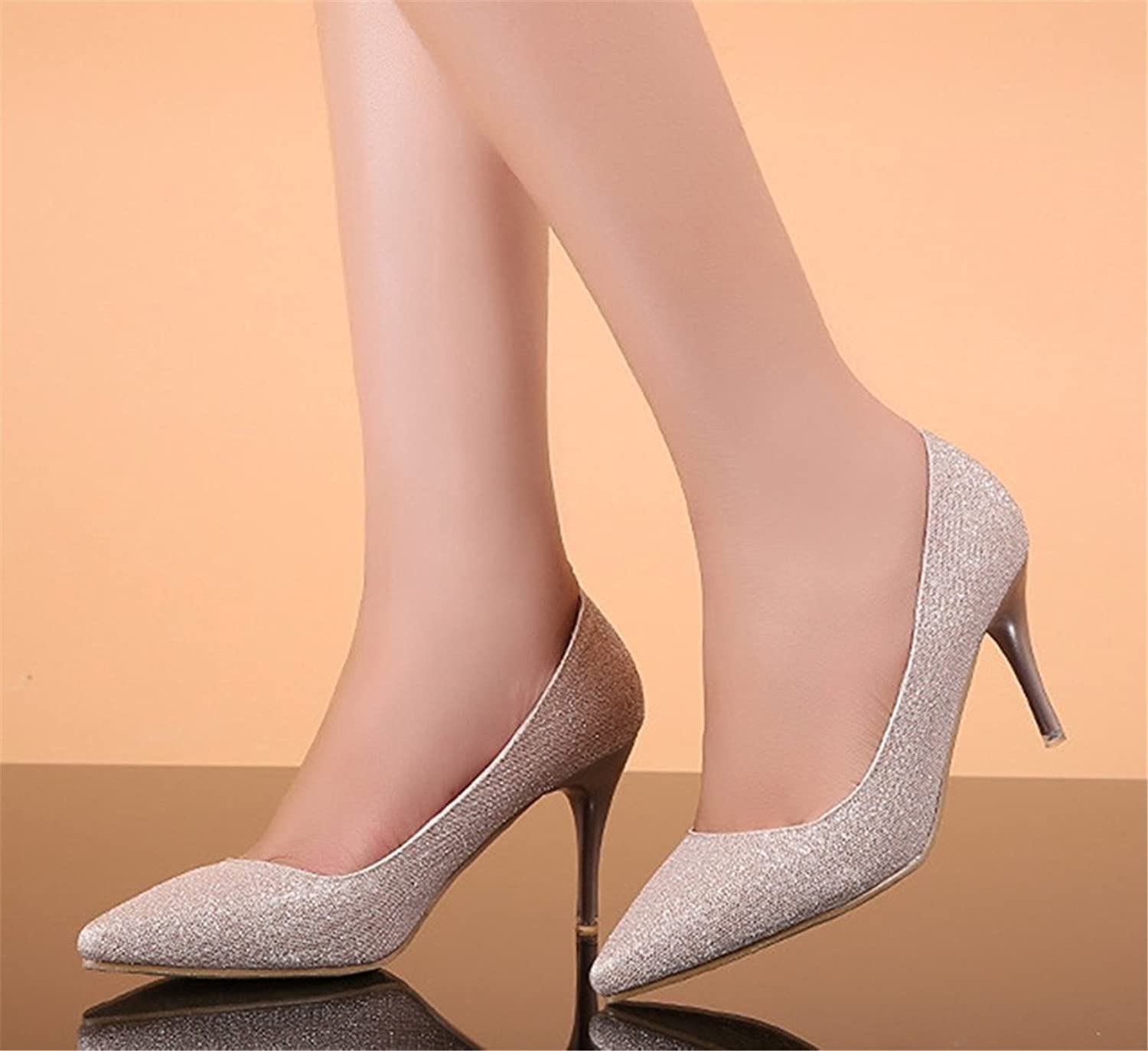 TOGIC Elegant Comfortable Women's Trendy Stylish Pointed Toe Low Cut Dress Slip On Kitten Heeled Pumps Party Bridal Stiletto shoes