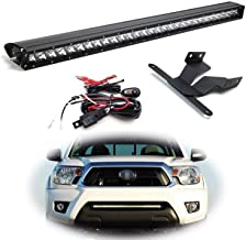 iJDMTOY Lower Grille Mount 30-Inch LED Light Bar Kit For 2005-2015 Toyota Tacoma, Includes (1) 150W High Power CREE LED Lightbar, Lower Bumper Opening Mounting Brackets & On/Off Switch Wiring Kit