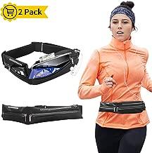 moleve Running Belt, Bounce Free Running Pouch Belt, Ultra Light Running Bag for Fitness Hiking Exercise Sport, Expandable Fanny Pack for Men & Women - Running Belt for Phones iPhone Android (2 Pack)