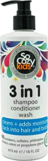 SoCozy 3-in-1 | Shampoo + Conditioner + Body Wash | For Kids Hair | Cleans and Adds Moisture Back | 16 fl oz | No Parabens...