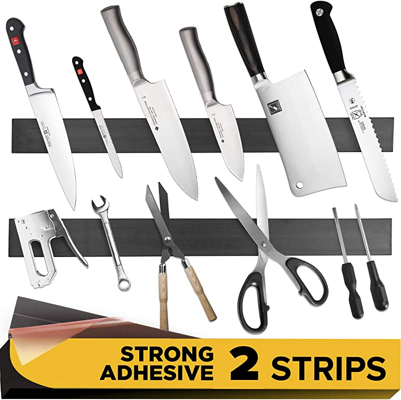 Adhesive Magnetic Strip For Knives Kitchen With Multipurpose Use As Knife Holder Knife Rack Knife Magnetic Strip Knives Bar Kitchen Utensil Holder Tool Holder For Garage And Kitchen Organizer