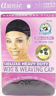 Annie Deluxe Heavy Duty Wig & Weaving Cap (Black) #4438 (1pc)